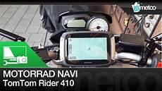 motorrad navi test tomtom rider 410 unboxing montage