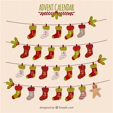 advent calendar with days in a shape of socks