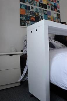 console de lit sur comment fabriquer une table de lit table d appoint