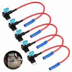 fuse box tap 5 pcs auto car fuse box 12v holder atm adapter auto apm tap mini car blade micro add a circuit