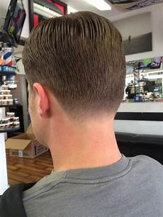 classic mens haircut with a tapered neckline yelp