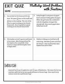 fractions word problems worksheets 4th grade 11454 multistep word problems with fractions 4th grade problem solving packet quiz