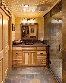 log cabin bath hickory rustic bathroom milwaukee by holiday kitchens