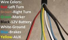 trailer end plug 7 way blade rv connector light plug for cord wire cer rv ebay