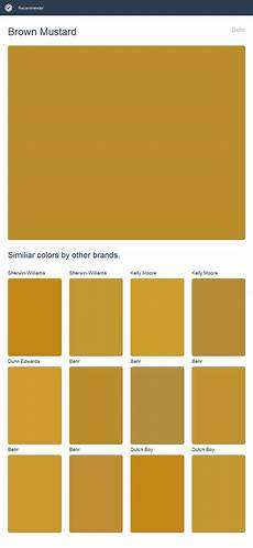 brown mustard behr click the image to see similiar colors by other brands green colour