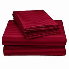 4 piece 1800 series embossed striped bed sheet collection