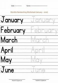 months of the year worksheet january june by handwritables tpt