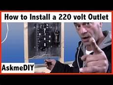 how to install a 220 volt outlet askmediy