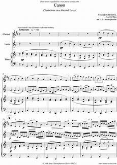 canon trio for clarinet violin and piano sheet music