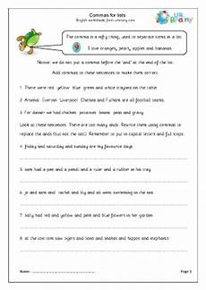 using commas worksheets ks1 commas for lists english worksheet for key stage 1