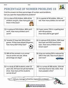 decimal word problems worksheet with answers 7578 percentage word problems