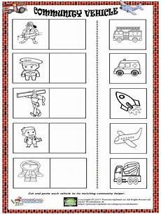 worksheets on vehicles 15217 community vehicle worksheet preschoolplanet