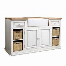 meuble de cuisine maison du monde meuble bas de cuisine avec 233 vier en manguier ivoire