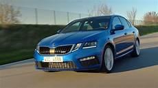Skoda Octavia Rs In Blue Driving Automototv
