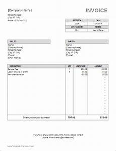 freelance receipt template a free billing invoice template for excel