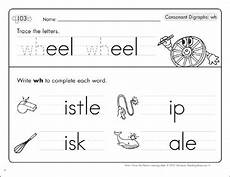 consonant digraphs wh phonics learning mats printable skills sheets