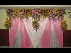 simple wedding stage decoration at home youtube