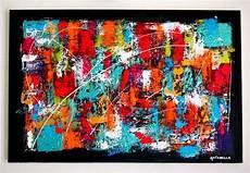format toile peinture tableau moderne abstrait color 233 contemporain toile peinture acrylique format 40 x 60