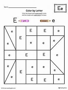 lowercase letter e worksheets 24621 uppercase letter e color by letter worksheet myteachingstation