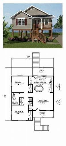 southern living coastal house plans southern style house plan 96703 with 2 bed 1 bath
