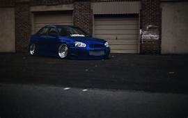 Subaru Impreza Wrx Sti Blue Stance