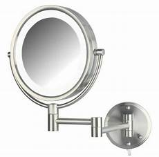 jerdon hl88nl 8 5 quot led lighted wall makeup mirror with 8x magnification nickel finish jerdon hl88nl 8 5 inch led lighted wall makeup