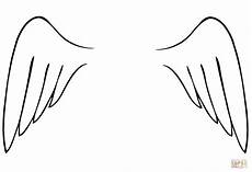 wings template printable free free printable
