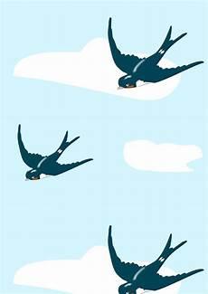 free printable flying bird pattern paper free