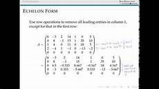 reduced echelon forms of matrices youtube