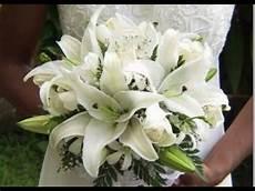 white stargazer lilies wedding bouquets youtube