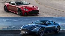 comparison 2019 aston martin dbs superleggera vs aston martin db11 top speed