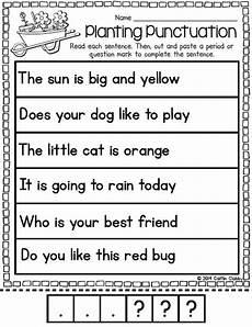 punctuation worksheets preschool 20874 word work april punctuation activities kindergarten writing word work centers