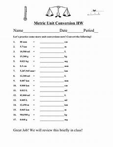 ditto metric unit conversion and rounding homework