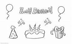 happy birthday ausmalbilder kostenlos ausmalbild club