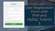 user registration form with php and mysql tutorial 3 connect a signup form with mysql database