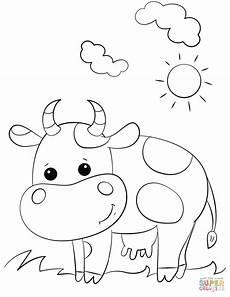 cow coloring page free printable coloring pages