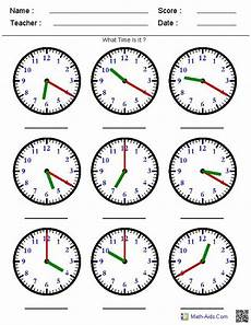 telling time a clock a variety of worksheets that you can generate based what you