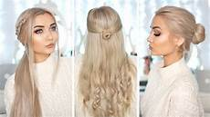 cute hairstyles for extensions 3 cute easy hairstyles with hair extensions youtube