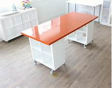diy craft room table building a new home the formica craft table made everyday