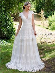 Brautkleid Boho Style - boho lace wedding dress 5001