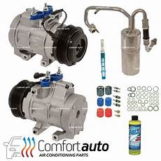 automotive air conditioning repair 2011 ford f series super duty transmission control new a c compressor kit fits 2008 2010 ford f series super duty diesel 6 4l ebay