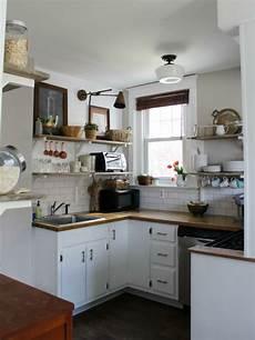 ideen kleine küche kleine k 252 che traditionell apartment nische raum u form