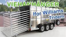 anhänger 3 5t viehanh 228 nger viehtransporter ifor williams 178x427x183cm