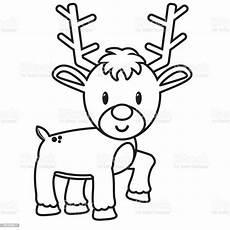 Malvorlage Rentier Einfach Reindeer Isolated Immagini Vettoriali Stock