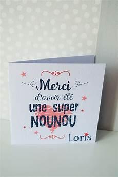 Carte De Remerciement Pour Nounou Ou Maitresse Papeterie