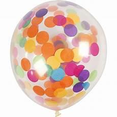 ballons mit konfetti ballons mit konfetti transparent d 23 cm rund 4stck
