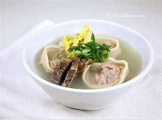 ddeok gook  korean new year rice cake soup_image