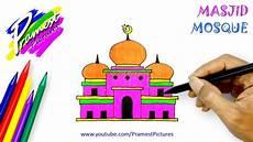 Masjid Cara Menggambar Dan Mewarnai Gambar Untuk Anak