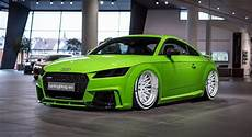 Audi Tt Fv Tuning With White Rotiform Qlb Alloy Wheels By