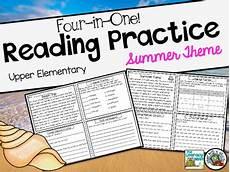 reading comprehension passages upper elementary summer word list builder